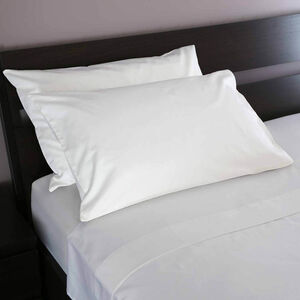 500TC Cotton Houswife Pillowcase Pair - White