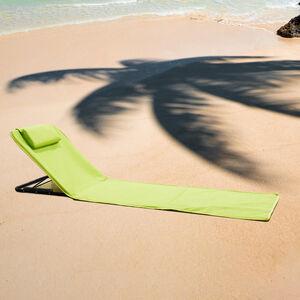 Multi-position Sun Lounger Mat - Lime Green