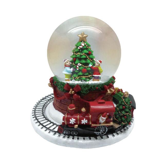 Musical Rotating Xmas Train Snow Globe