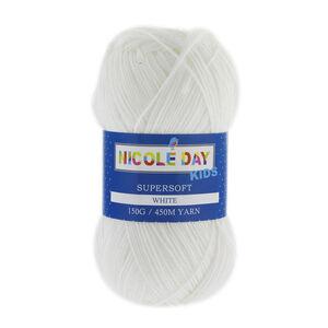Nicole Day Kids Supersoft White Yarn