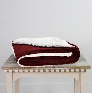Ruane Mink Sherpa Red Throw 127 x 152cm