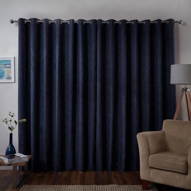 BLACKOUT & THERMAL BASKETWEAVE NAVY 66x54 Curtain