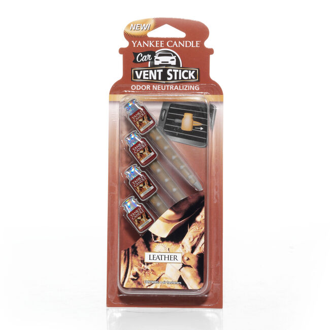 Yankee Candle Leather Car Vent Sticks
