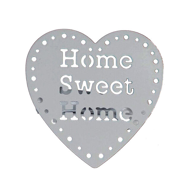 Home Sweet Home Shiny White Curtain Clip