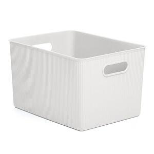 Stripe Storage Basket 23L - White