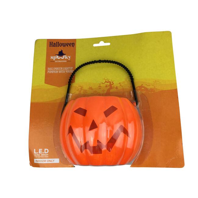Halloween Light Up Pumpkin with Sound