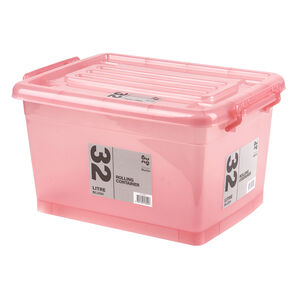 Rolling Storage Container 32L - Blush