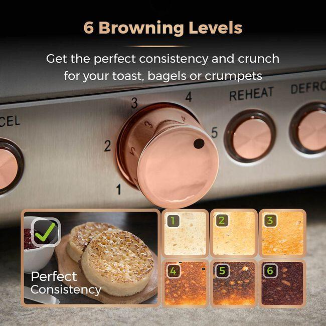 Tower Cavaletto Grey 4 Slice Toaster