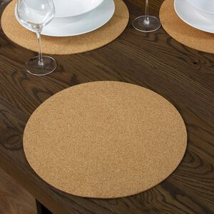 Round Cork Natural Placemat