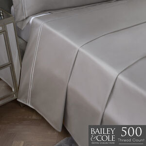 DB FLAT SHEET Double Stitch Silver 500tc