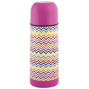Jelly Childrens Zig Zag Pink Vacuum Flask 035L