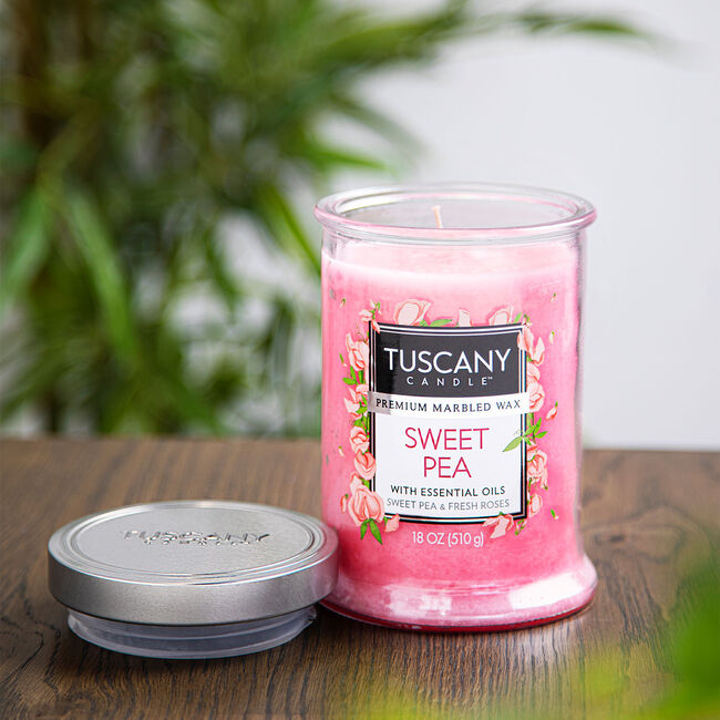 Tuscany 18oz Candle Sweet Pea