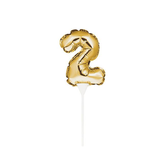 Self-Inflating Gold 2 Mini Balloon