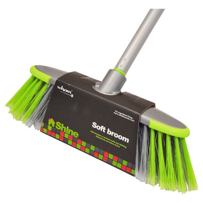 Wham Shine Soft Broom with Handle