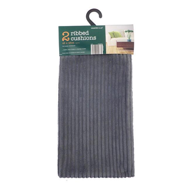 Microfleece Grey Cushion Covers 2pk