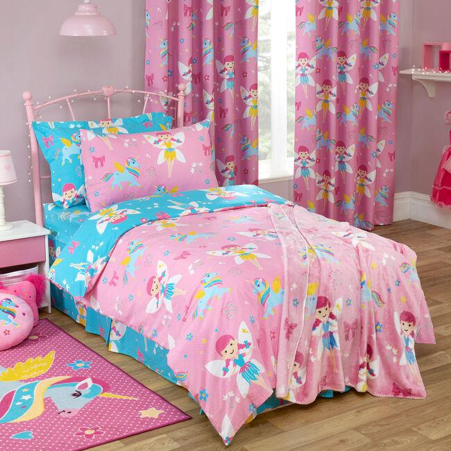 JUNIOR BED DUVET COVER Fairy Unicorn