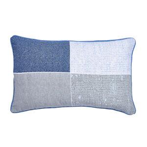 Hayes Grey/Blue Cushion 30cm x 50cm