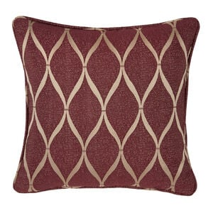 Deco Ogee Cushion 45 x 45cm - Wine