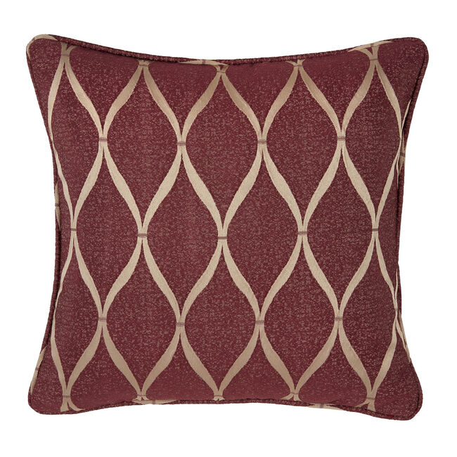 Deco Ogee Cushion 45 x 45cm - Wine