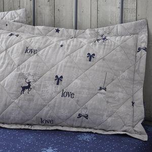 Christmas Love Navy Pillowshams