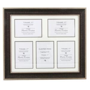 Bronze Slim Photo Frame 5 Pane Multi