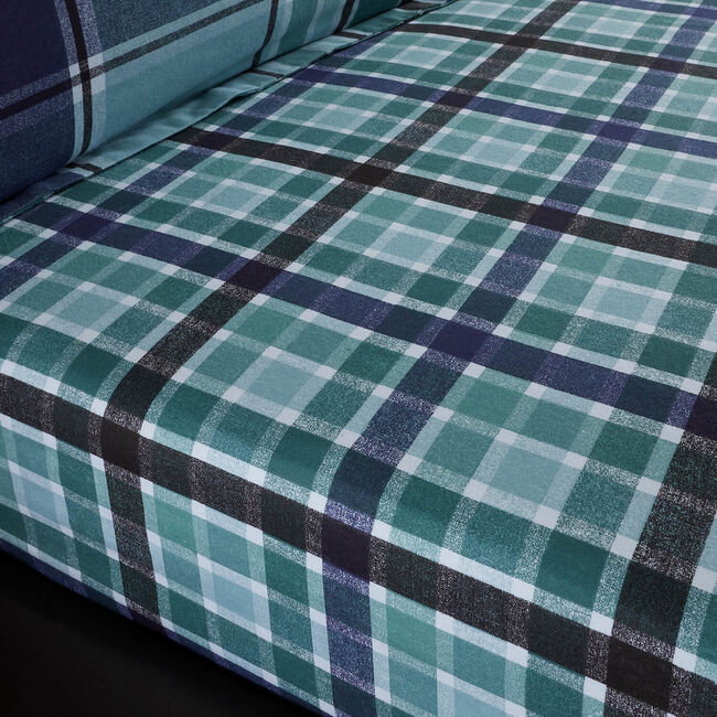 BRUSHED COTTON FREEMAN CHECK Single Fitted Sheet