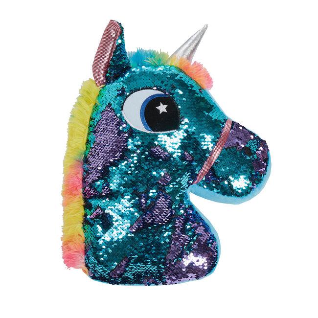 Sequin Unicorn Cushion