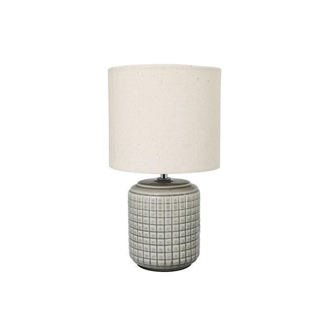 Opio Glazed Table Lamp Light Grey