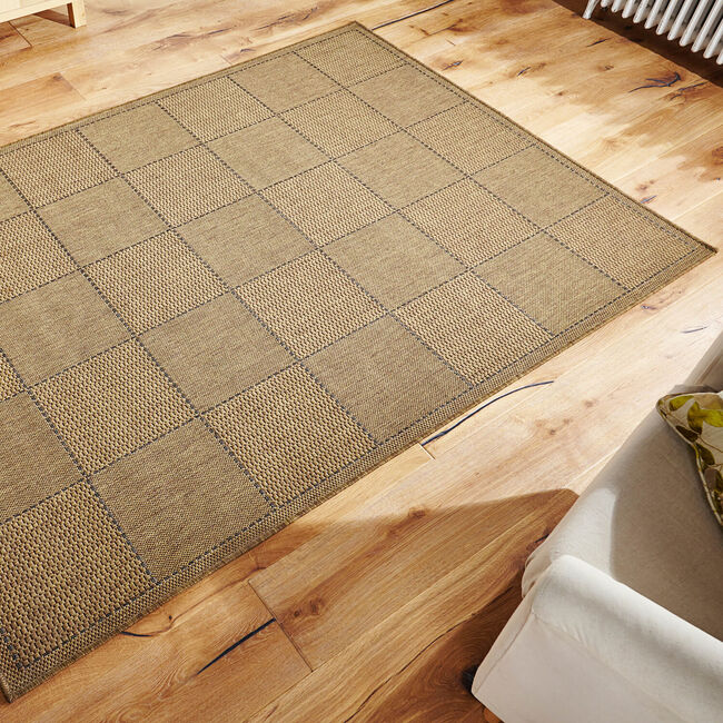 Checkered Flateweave 160x225cm - Natural