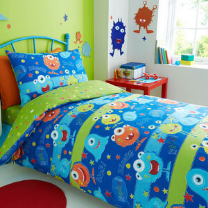 Mischievous Monsters Duvet Cover
