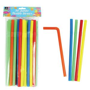 Jumbo Flexible Straws 30 Pack