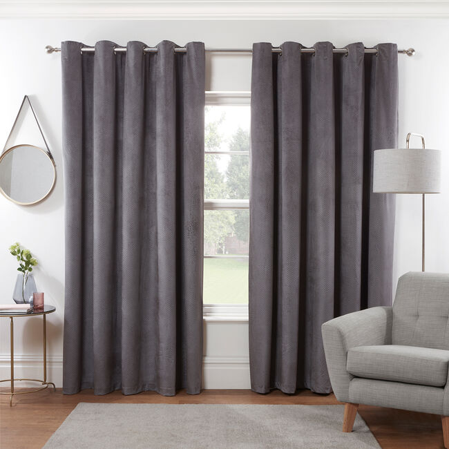 DIAMOND GREY 66X72 Curtain