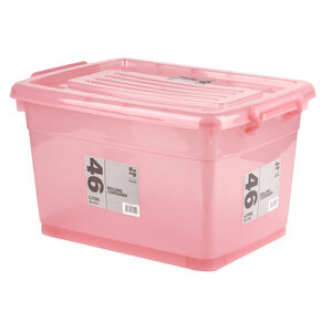 Rolling Storage Container 46L - Blush