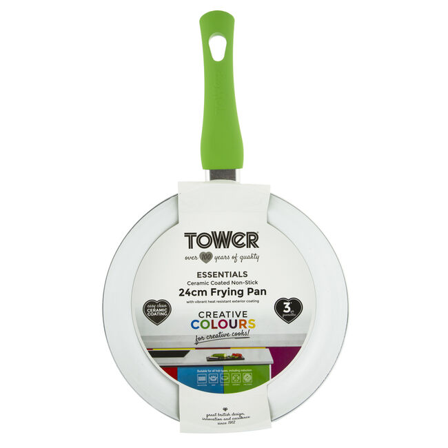 Tower Ceramic Green Frying Pan 24cm