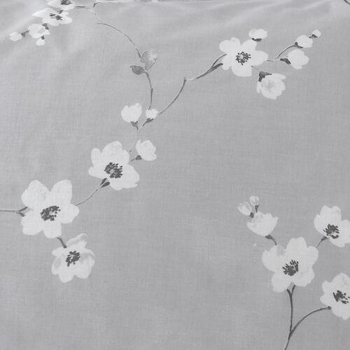 Blossom Oxford Pillowcase Pair - Grey