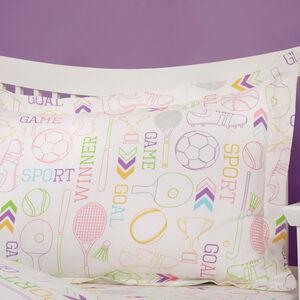 Game On Oxford Pillowcase Pair - Multi
