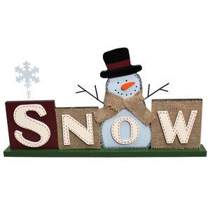 Christmas Snow Tabletop Sign