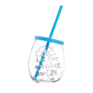 Glassworks Embossed Gin Glass 400ml