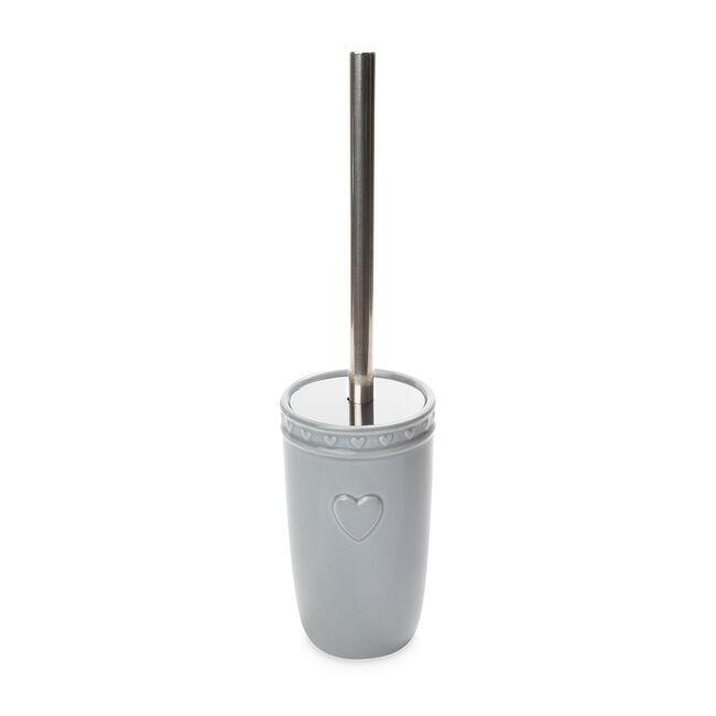Heart Toilet Brush - Soft Grey