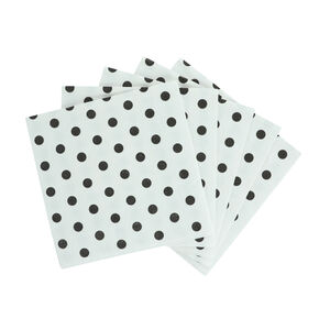 Spots Mono Cocktail Napkins - 20 Pack