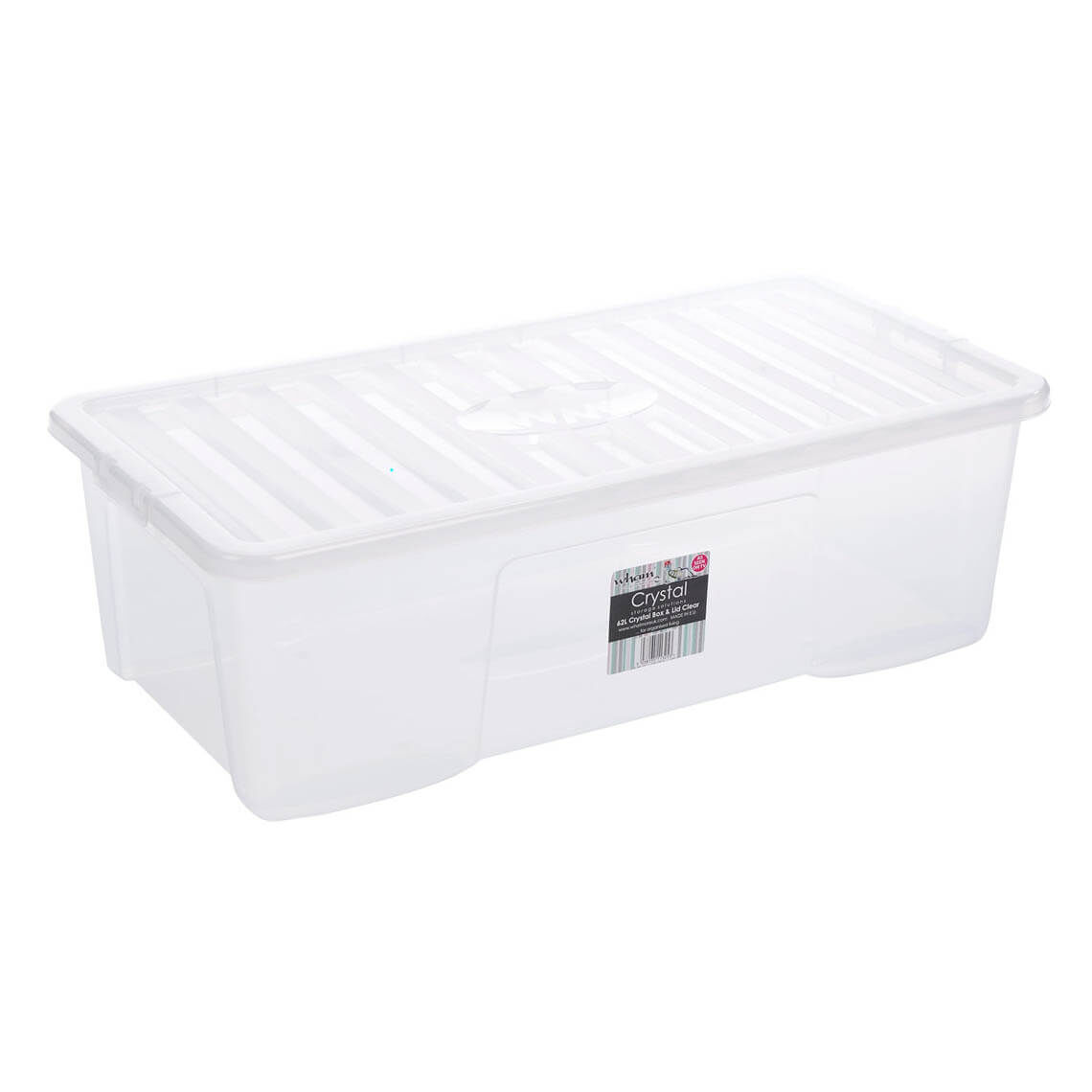 Crystal Clear Box With Lid 62 Litres