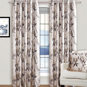 MODERN FLOWER NATURAL 66x72 Curtain