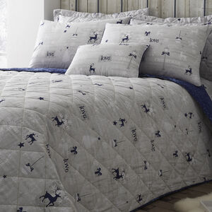 Christmas Love Navy Bedspread
