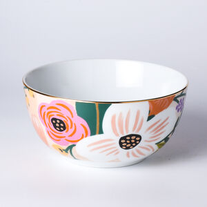 Atelier 75 Tropical Pink Flower Cereal Bowl
