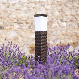 Rattan Solar Lamp Post