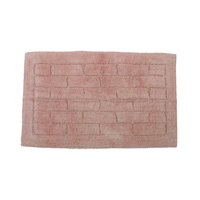 Cotton Brick Peach Bath Mat 50cm x 80cm