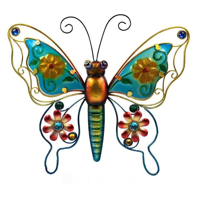 Decorative Glass Butterfly Garden Wall Art