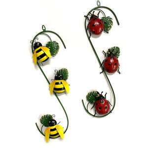 Metal Ladybird/Bee Wall Art
