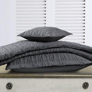 Quilted Hotel Chevron Grey Pillowshams 50x75cm
