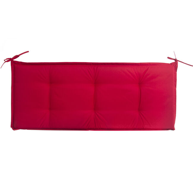 Bench Cushion Red 50cm x 120cm x 5cm